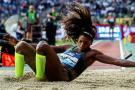 Caterine Ibargüen: campeona en el salto largo de la Liga Diamante