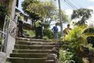 En estas escaleras se registró el homicidio de Jorge Díaz Delgado, de 35 años.
