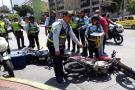 Motociclista infractor arrolló a agente de tránsito en Bucaramanga