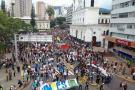 Marcha por la educación recorrió las calles de Bucaramanga
