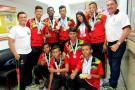 Buena cosecha de medallas en Guatapé para Liga de Canotaje