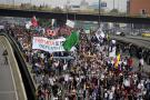 Marchas de estudiantes, entre muestras artísticas y disturbios