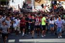 Vea las imágenes del primer encierro de las fiestas de San Sebastián en España