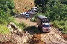 Habilitaron paso en la vía entre San Gil y Charalá tras derrumbe