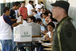 Así fue la apertura de las mesas de votación para el plebiscito en Bucaramanga