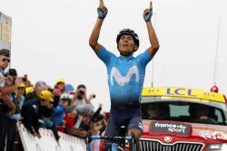 Nairo Quintana volvió a saborear las mieles del triunfo en el Tour de Francia al ganar la etapa 17, una fracción de alta montaña de 63 kilómetros que terminó en Saint-Lary-Soulan.