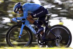 Nairo Quintana fue el mejor colombiano de la 'crono' de ayer en Torrelavega. Con tiempo de 40':07'', fue 26 en la etapa, luego se ubicó Rigoberto Urán (28) con 40':13'' y después Miguel Ángel López (31) con 40':19''.