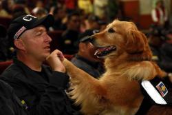 Fiscalía condecora a 14 perros que se jubilan de la entidad