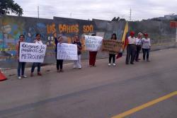 Comunidad del barrio Junín denuncia abusos de Metrolínea en construcción del Portal de Piedecuesta