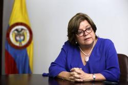 Gloria María Borrero, titular de la cartera de Justicia.