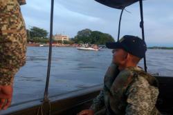 Ayer, personal de la Armada Nacional continuaba la búsqueda del hombre.