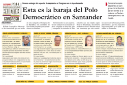 Esta es la baraja del Polo Democrático en Santander