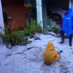 Fuerte granizada dejó 700 familias afectadas en Carcasí, Santander