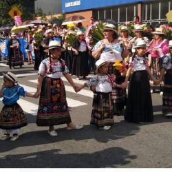 Así transcurre el desfile de carrozas sobre la carrera 27 de Bucaramanga