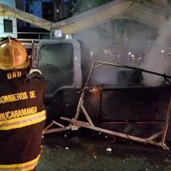 Se registró incendio en una de las carrozas del desfile de la Feria de Bucaramanga