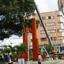 El 'regreso a casa' de una escultura en Bucaramanga