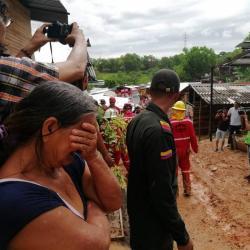 El rostro de la tragedia por deslizamiento en Barrancabermeja