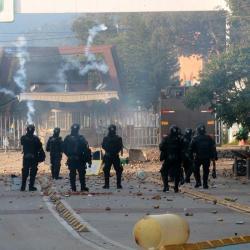 Así quedó la UIS después de los disturbios de este jueves
