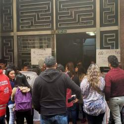 Protestantes se tomaron sede del Ministerio del Interior en Bogotá