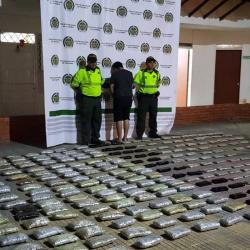 La marihuana tipo 'creepy' había sido camuflada en unas cajas de cartón. El hallazgo ocurrió en jurisdicción de Sabana de Torres, Santander.
