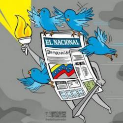 La última portada impresa de El Nacional de Venezuela
