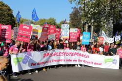 Manifestantes en Londres reclaman un nuevo referéndum del Brexit