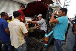 Las dramáticas escenas de la caravana migrante hondureña