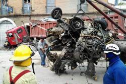 Conductor del tractocamión accidentado en San Gil, pidió perdón