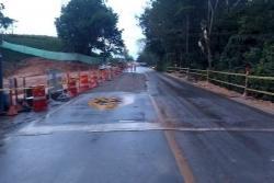 Tras hundimiento, reabren vía entre Bucaramanga y Barrancabermeja