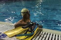 La lucha de este nadador por dejar en alto a Santander