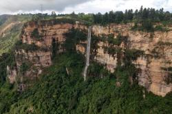 Tras varios años de sequía, reaparecieron las cascadas del Duende en Santander