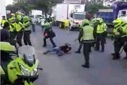 Transportadores informales denuncian presuntas agresiones de policías en Girón