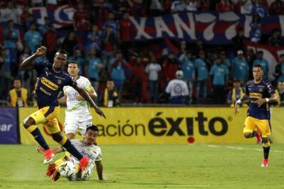 Sherman Cárdenas, el encargado de comandar al Atlético Bucarmanga, fue controlado por la zona defensiva de Medellín y sin la conducción del mediocampista santandereano, el cuadro 'Leopardo' se vio sin ideas.