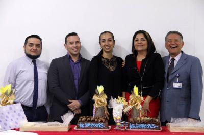 Óscar Rodríguez, Wilder Bohórquez, Sandra Gómez, Laura Palacios y Alberto Cadena.