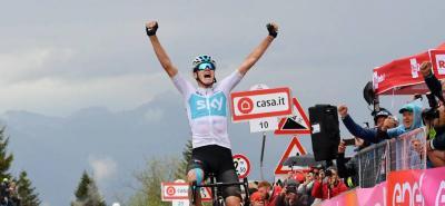 Chris Froome se impuso en la etapa 14 del Giro de Italia