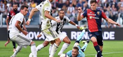 En esta jugada llegó el gol del portugués Cristiano Ronaldo, en número 400 en tres grandes ligas del viejo continente, Inglaterra, España e Italia.