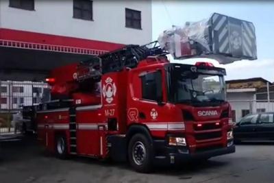 Desde Alemania llegó la máquina tipo escalera para Bomberos de Bucaramanga