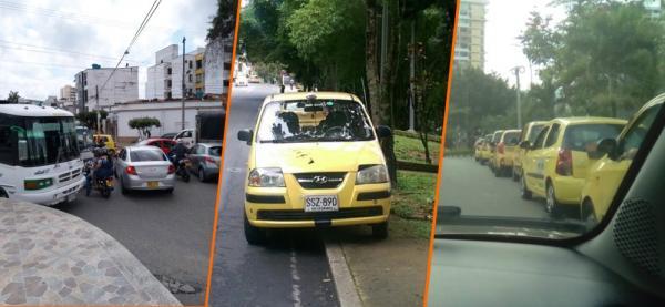 Cruces indebidos, carros estacionados en lugares prohibidos y obstaculización de la vía pública.