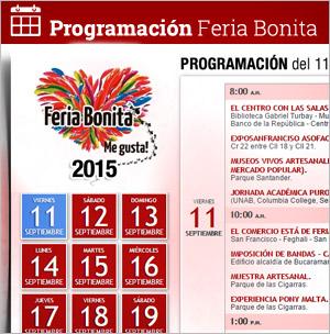 Programación Feria de Bucaramanga 2015